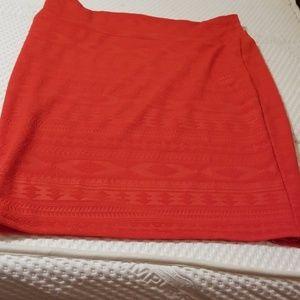 Lularoe XL pull on red straight short skirt